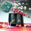 【エコファーマー】伊勢玉露・高級煎茶50g×2黒缶入詰合せ一越織柄緑風呂敷ギフト