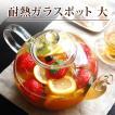 耐熱ガラス ティーポット 茶こし付き おしゃれ 大サイズ 満水 1500ml