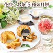 お中元 御中元 ギフト スイーツ ギフト 菓子 詰め合わせ 大月餅2種と カーネーション 花 工芸茶10種 OHANA 花アレンジ