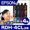 エプソン プリンターインク RDH-4CL (リコーダー ) 4色セット rdh インク エプソン 互換インクカートリッジ PX-048A PX-049A