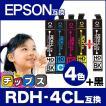 エプソン プリンターインク RDH-4CL +RDH-BK-L (リコーダー ) 4色セット+黒1本 エプソン 互換インクカートリッジ PX-048A PX-049A
