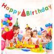 happy birthday ハッピー バースデー 誕生日 パーティー フラッグ ガーランド 子供部屋 北欧 フェルト カラフル かわいい 飾り 装飾 プレゼント