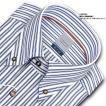 ワイシャツ Yシャツ メンズ 長袖   LORDSON   綿100% 形態安定加工 標準体 長袖 ブルーストライプ ボタンダウンシャツ メンズドレスシャツ おしゃれ