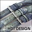腕時計 ベルト バンド HDT Alligator Denim Print アリゲーター デニム 20mm22mm 腕時計(宅)