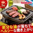 【あすつく】鉄鋳物製 焼肉グリル イワタニ iwatani カセットフー専用アクセサリー カセットコンロ用焼肉グリルM CB-P-GM 焼き肉プレート