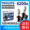 LEDフォグランプ LED Fog フィリップス(PHILIPS) X-treme Ultinon 6200K H8/H11/H16 12V車 車検対応 12834UNIX2J (送料無料)