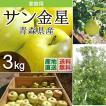 青森県津軽産りんご サン金星 優品・ご家庭用 3Kg/箱 送料無料