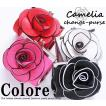 【セール】立体の薔薇×がまぐちがカワイイ♪カメリアコインケース/ポーチ/がまぐち
