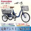 フランスベッド 電動アシスト三輪自転車 ASU-3WT3 高齢者用 自転車
