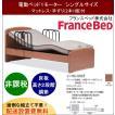開梱設置料無料 フランスベッド 家庭用介護ベッド 非課税品 イーゼルシリーズ イーゼル005 F 1モーター シングルサイズ フレーム+マットレスセット