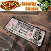 Rat Fink ラットフィンク Security Sticker セキュリティステッカー シール 盗難防止 RDF048