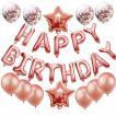 ハッピーバースデー風船 文字バルーンセット 誕生日飾り ピンクゴールド 飾り付け