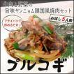 プルコギ ヤンニョム牛スライスと野菜のセット 5人前 韓国風すきやき焼肉 牛肉