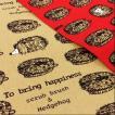 布 生地 動物柄 たわしなハリネズミ 綿麻キャンバス 赤 ベージュ コットン リネン 手芸