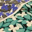 蝶と葉っぱ柄 生地 綿麻 キャンバス 布 布地 手芸 北欧風 コットンリネン ちょうちょ 蝶々 ファブリック おしゃれ 北欧柄