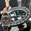 クロノグラフ 腕時計 メンズ 人気 ブランド 時計 メンズ イタリア・牛革ベルト