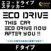 エコ ドライブ ECO DRIVE ステッカー Fタイプ 通常色 全17色 車 燃費 安全 運転 シール デカール