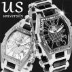 ユニバーシティ UNIVERSITY メンズ腕時計 長渕剛さん 芸能人愛用 アナログ ステンレス ホワイト ブラック US203WH US203BK 選べる2カラー