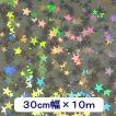 ホログラムシート リトルスター(シルバー) 30cm幅×10m ロール