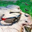 偏光 サングラス UVカット 紫外線カット 交換レンズ5枚セット 専用ポーチ付 釣り トレッキング 登山 アウトドア スポーツ用品 登山用品 レビュー投稿で送料無料