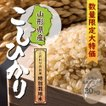 特別栽培米 山形県産コシヒカリ 一等米玄米 30kg 平成29年産