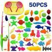 さかなつりゲーム 男の子 女の子 釣り遊び 磁石 マグネット フィッシング ゲーム 知育玩具 50PCS