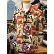 ケオニオブハワイ  KEONI OF HAWAII アロハシャツ 『人生は楽園』 by TERUMI YOSHIDA SS38199-165 RED SUN SURF サンサーフ