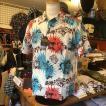 """ケオニオブハワイ KEONI OF HAWAII アロハシャツ """"GAUGUIN WOODCUT III"""" by JOHN MEIGS SS38466-105/OFF WHITE サンサーフ"""