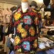 """ケオニオブハワイ KEONI OF HAWAII アロハシャツ """"GAUGUIN WOODCUT III"""" by JOHN MEIGS SS38466-119/BLACK サンサーフ"""