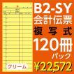 B2-SY会計伝票 2枚複写 ヨコ85mm×タテ195mm(ミシン15本入)120冊