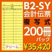 B2-SY会計伝票 2枚複写 ヨコ85mm×タテ195mm(ミシン15本入)200冊