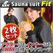 SSK サウナスーツ Fit 2枚セット ( メンズ レディース インナー アウター 兼用 ツーウェイ ダイエットウェア )