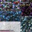 クリスタル キューブ ビーズ 5colors 3mm