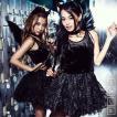 レディース コスプレ レディース costume【コスチューム】ダーク小悪魔ガール 5点セット(ワンピース、カチューシャ、他)