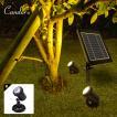 スポットライト 屋外 ソーラー LEDスポットライト ガーデンライト ソーラースポットライト 温暖色2灯 LEDイルミネーション