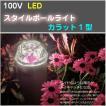 スタイルポールライト LED 100V カラット1型 全2色 4パターン 庭 灯り 輝き 照明 タカショー TK-895