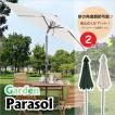 パラソル シェード 日よけ UVカット パラソル立て ベース別 角度調整付 ガーデン 庭 テラス 全2色 AZ24-189 RKC-527 528