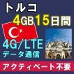 トルコ プリペイド SIMカード 15日 4G・3Gデータ AIS Sim2Fly 送料無料 即日発送 あすつく