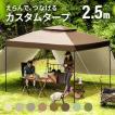 タープテント 2.5m ワンタッチ タープ  UVカット 送料無料  軽量 簡単 キャンプ バーベキュー 日よけ 紫外線防止