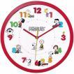 スヌーピー アイコンウォールクロック 掛け時計 レッド 直径30cm 連続秒針 立体文字盤 単3形電池×1本使用