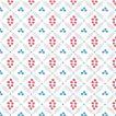 デザインナプキン 3PLY 4面折 (アーバンエスニックホワイト) 33x33cm 20枚入り