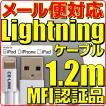 新品 メール便可 Mfi 認証 ライトニングケーブル Lightningケーブル 1.2m 白 CE-LINK NO:1053 iPhone iPad iPod 120cm
