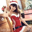 コスプレ サンタガールのワンピース コスチューム大人用 衣装 クリスマス