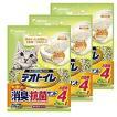 【3個セット】1週間消臭・抗菌デオトイレ 飛び散らない消臭・抗菌サンド 4L×3袋