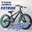 ファットバイク ビーチクルーザー 自転車 20インチ FATBIKE シマノ7段変速 ディスクブレーキ クイックリリース