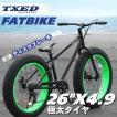 ファットバイク ビーチクルーザー 自転車 26インチ FATBIKE シマノ7段変速 ディスクブレーキ