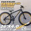 ファットバイク ビーチクルーザー 自転車 26インチ FATBIKE シマノ24段変速 ディスクブレーキ