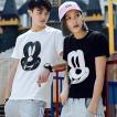 夏新作 ペアルック カップル Tシャツ カジュアル半袖Tシャツ ラブラブお揃い 棉シャツ ディズニー Tシャツ レディース メンズ 女の子 男の子