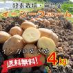 オーガニック 自社農場直送 ジャガイモ インカのめざめ(馬鈴薯系) 農薬無散布 S〜L混合 4kg送料無料