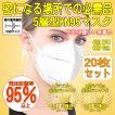 N95マスク FFP2規格 同等性能 KN95マスク20枚 飛沫防...